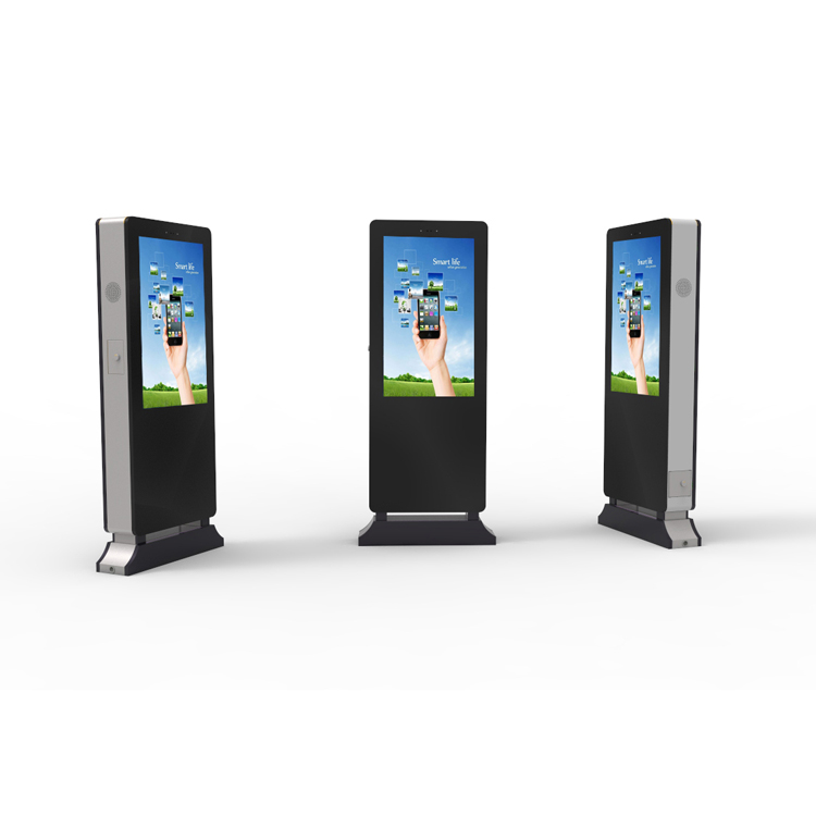 84 inch floor standing Outdoor Advertising Player lcd digital signage with high brightne ...