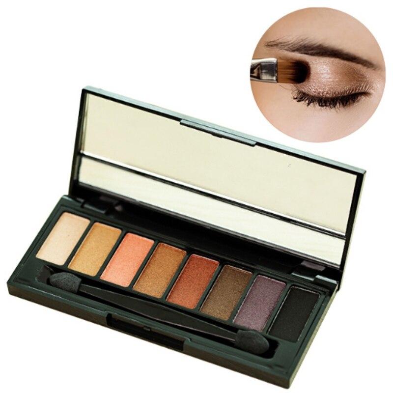 8 color nude profesional nake paleta de maquillaje de sombra de ojos mate paleta