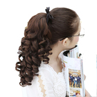 DIFEI 16'' short Wavy Synthetic Ponytail Clip in Hair Extensions Curly Style Pony Tail Hairpiece hairstyles