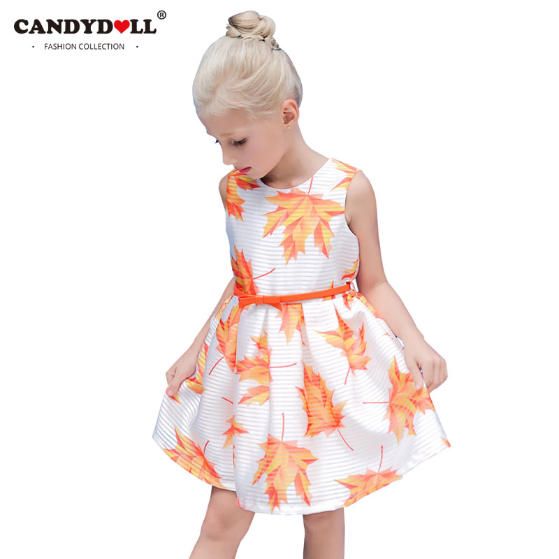 CANDYDOLL Princess Dress Girl Kids 2017 Summer Fancy Party Dresses for Little Girls Birthday Gift for Children Age 5 to 10 Years baby girls tutu dress summer party little princess kids girl costume kids tulle formal dresses for age 3 7 8 10 to 12 years