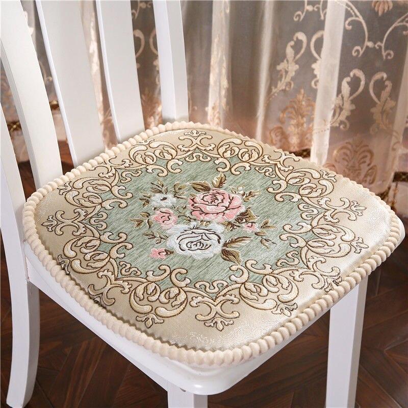 Style européen chaise Coussin coton siège Coussin pour cuisine bureau chaise oreiller fleur motif chaise Pad ménage siège coussinets
