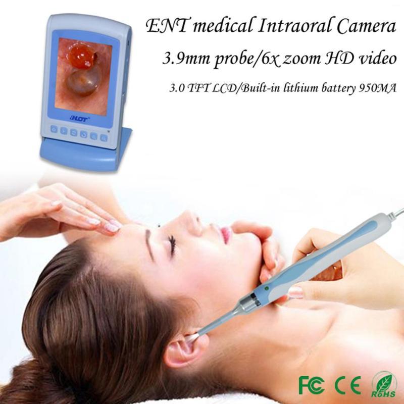 HOT di Alta Qualità Intraorale Endoscopio Schermo LCD Video/fotocamera HA CONDOTTO LA Luce di Monitoraggio di Controllo per il Dentista Orale Orecchio Naso Cura Dell'orecchio