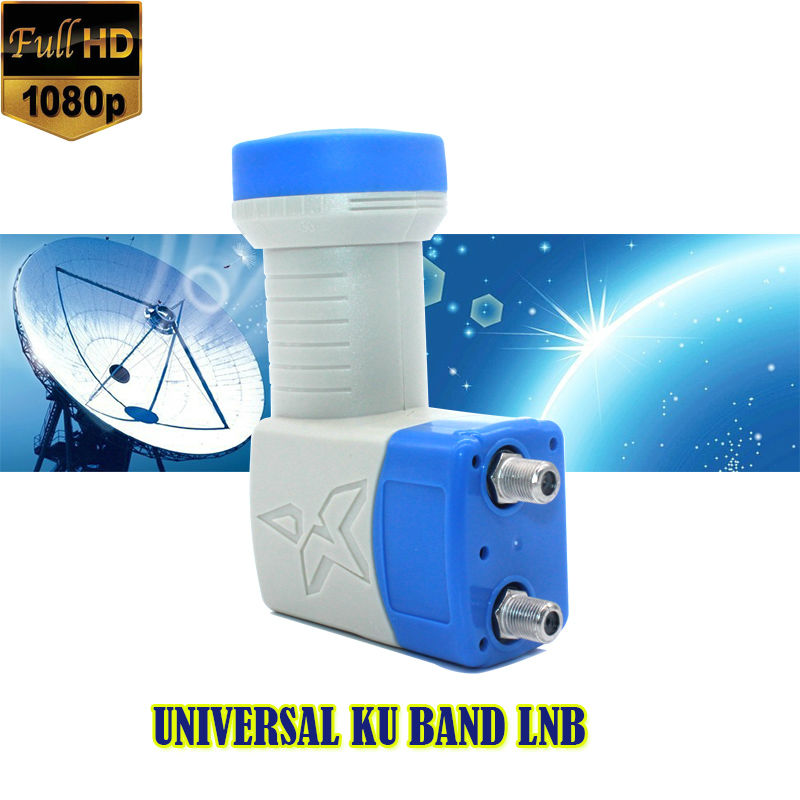 Universal Bande Ku Twin LNB à Gain Élevé À Faible Bruit 0.1db universal lnb full hd numérique bande ku lnb twin pour satellite tv dvbs2 lnb