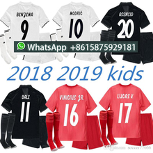 281a89763 Real Madrid soccer+sock jerseys 18/19 kids home away soccer jersey youth boys  child jerseys kits 2018 2019 RONALDO ISCO football