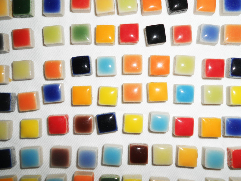 Mixed Round Mosaic Tiles 12//14mm Glass Mosaic DIY Supplies Jewelry Making Crafts
