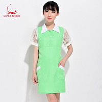 New beautician beauty salon work clothes fashion custom nail apron female supermarket mother and baby store waiter