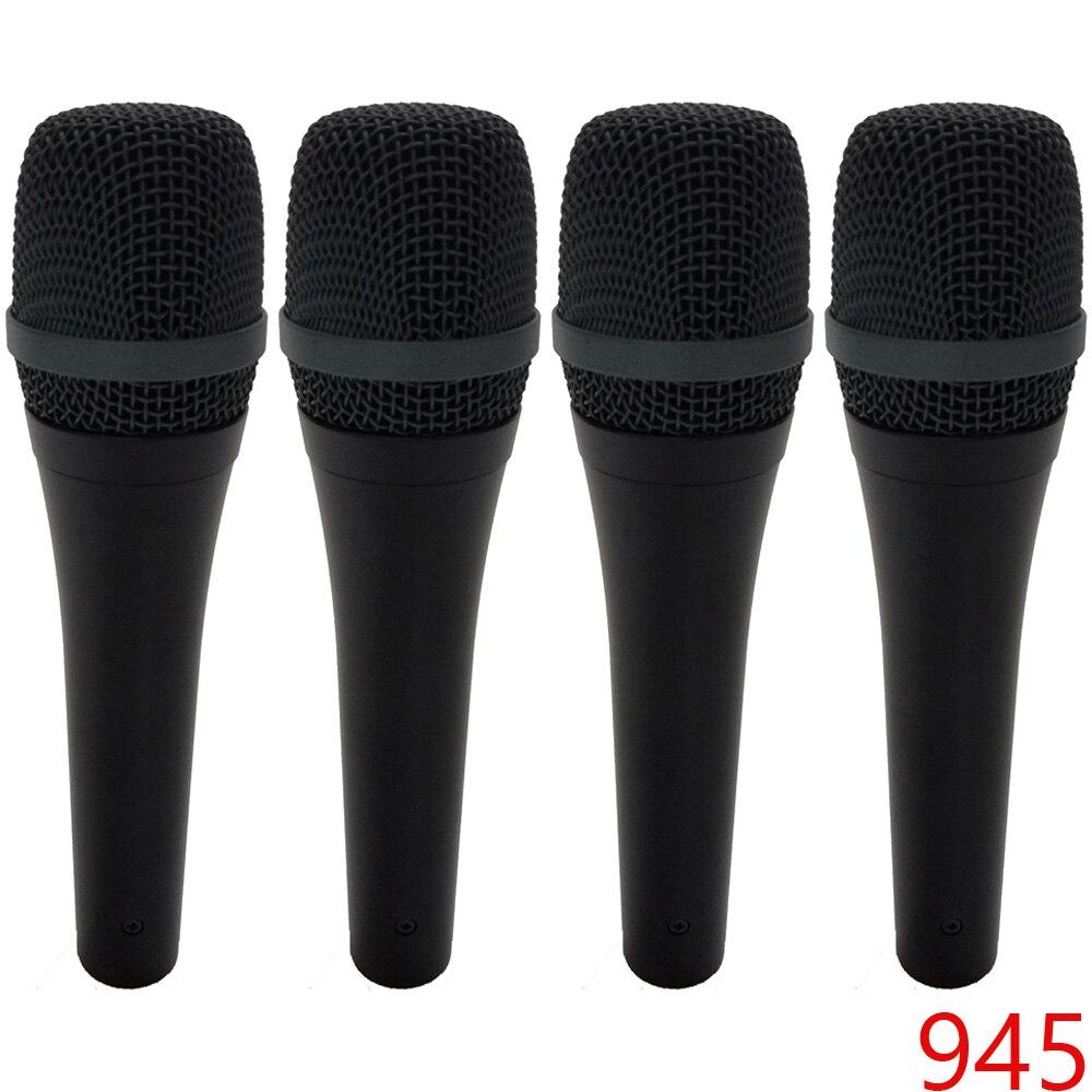 4 pieces 945 vocal dynamic microphone super cardioid wired microfon wire microfone microfono. Black Bedroom Furniture Sets. Home Design Ideas