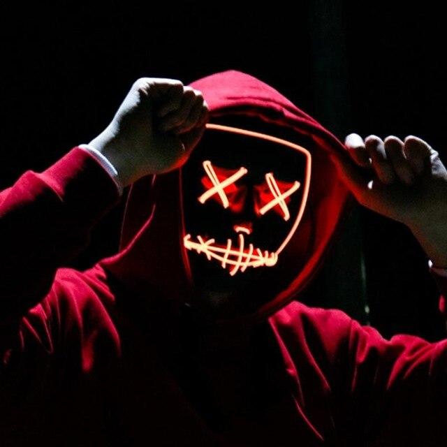 Halloween Purge Light Up Mask LED Funny Masks Great