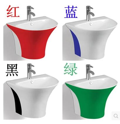 Square Ceramic Hanging Basin. Hang Wall Type Face Basin. Triangle Round  Balcony Sink. Wall Hang Sink Basin In Bathroom Sinks From Home Improvement  On ...