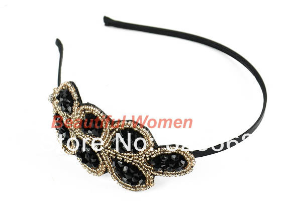 Free Shipping 10pcs/lot Lovely Princess Elegant Stylish Crystal Beaded Headband Hair Band Hairpin 10389