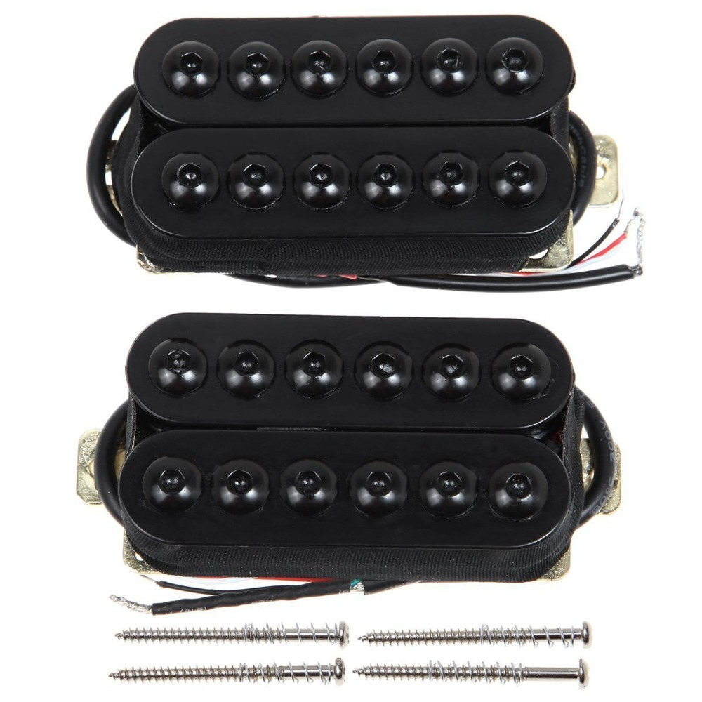 Ostrich Music Professional Guitar Pickup 1 Set Black Bridge&Neck Guitar Humbucker Pickup Invader Style