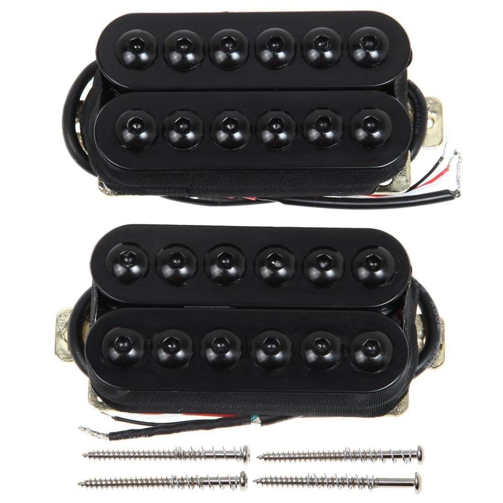 Ostrich Music Professional Guitar Pickup 1 Set Black Bridge&Neck Guitar Humbucker Pickup Invader Style