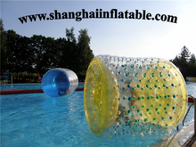 Free shipping by sea Factory customized PVC inflatable water roller ball PVC zorb ball
