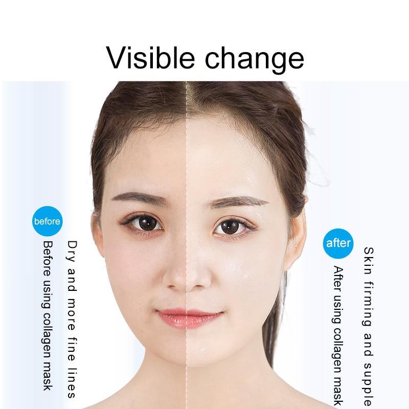 Image 4 - Fonce Korea Collagen Face Mask 10 Piece Moisturizing Improve Coarse Rejuvenation Tight Fade fine lines whitening Brighten Skin-in Treatments & Masks from Beauty & Health