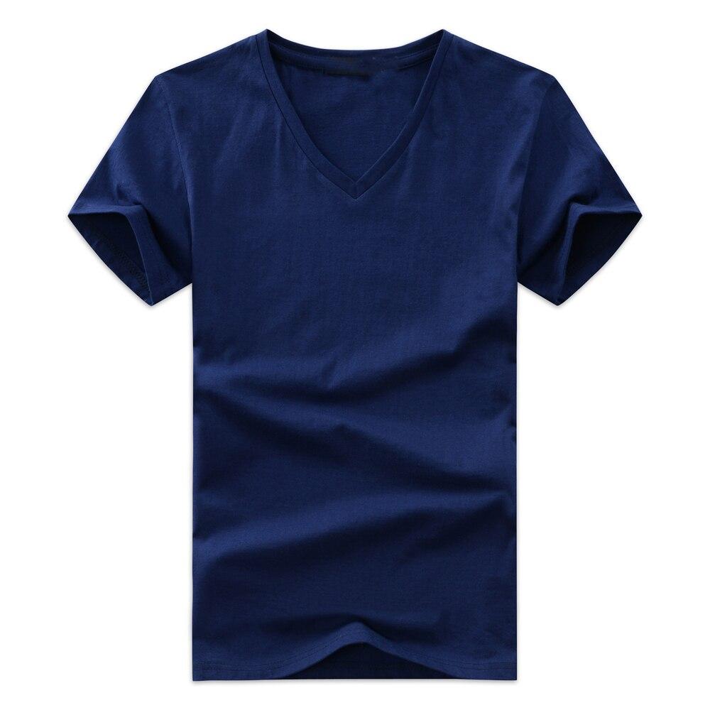 Hombres Camisetas v-cuello más tamaño s-5xl camiseta hombres verano manga  corta Camisas fcb84c80ec4be