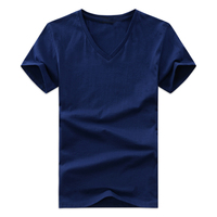 Men S T Shirts V Neck Plus Size S 5XL T Shirt Men Summer Short Sleeve