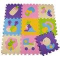 32 СМ х 32 СМ 9 шт./лот ЕВА головоломки коврик для детей, играющих коврики тренажерный зал ковер для гостиной моющийся footcloth Pattern Головоломки Сплит Мат