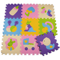 32 CM x 32 CM 9 pçs/lote esteira do enigma de EVA para as crianças jogando ginásio tapetes tapete para sala lavável footcloth Padrão Enigma Mat Divisão