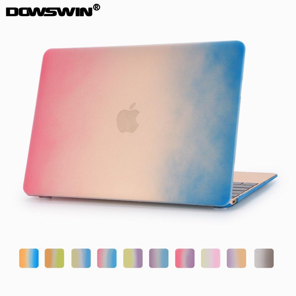 Dowswin для Macbook Retina 12 чехол, сверхтонкий для MacBook Радуга Дело градиент ПК Твердый переплет для Macbook Retina 12 Обложка
