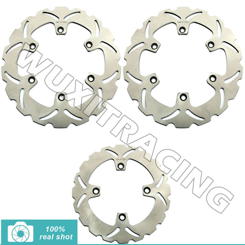 296mm+240mm Motorcycle New Full Set Front Rear Brake Discs Rotors for Honda CB 750 N/CB  F/CB SEVEN FIFTY 1992 1993 1994 1995