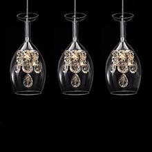 Современная мода, столовая K9, кристалл, 5 Вт, светодиодный, люстра, сделай сам, украшение для дома, для гостиной, прозрачное стекло, винный стакан, дизайн, освещение