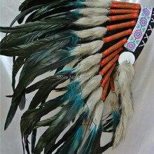 Бирюзовый и черный головной убор ручной работы с перьями Вечерние головные уборы
