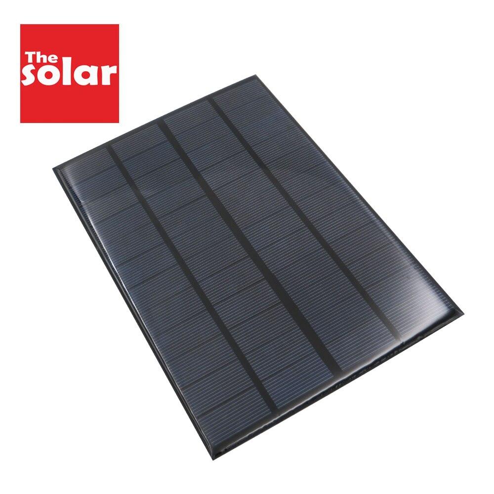 350 mah painel solar 12 v 4.2 w padrão epóxi policristalino 12 v dc 4.2 watt diy módulo de carga de energia da bateria mini célula solar