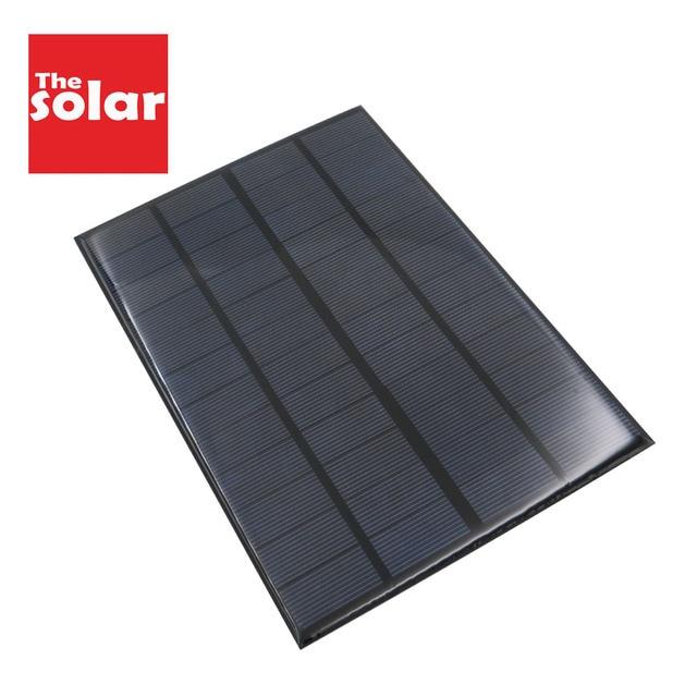 350mAh פנל סולארי 12 V 4.2 W סטנדרטי אפוקסי Polycrystalline 12 V DC 4.2 ואט DIY סוללה כוח תשלום מודול מיני