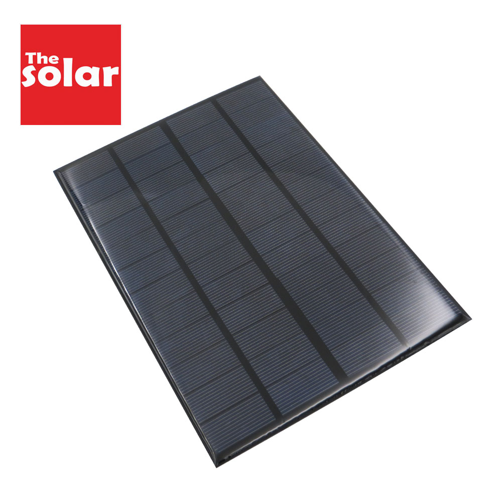 350mAh Solar Panel 12 V 4.2 W Standard Epoxy Polycrystalline 12V DC 4.2WATT DIY Battery Power Charge Module Mini Solar Cell(China)