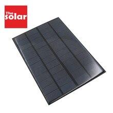 Painel solar de 350mah 12 v 4.2 w padrão epóxi, polycrystalline 12 v dc 4.2 w bateria de carregamento mini módulo de célula solar