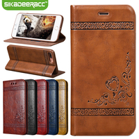 GK33 PU Leather Wallet Phone Cases For IPhone 5s 6s 7 Plus SE Shockproof Protective Back