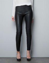 Весной 2016 новый женский досуг кожаные штаны Чистый цвет ПУ кожа связаны ноги брюки леггинсы кожаные штаны