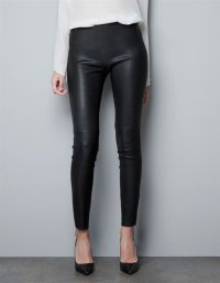 The spring of 2016 the new female leisure leather pants Pure color PU leather bound feet pants leggings  leather pants