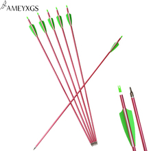 3/6 PCS  31 Archery Spine 500 Aluminum Shaft Arrow ID 6.2mm OD7.2mm Target Practice shooting Oudoor Hunting Accessories