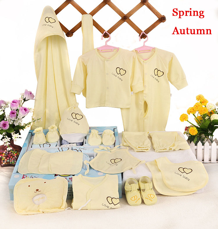 Emotion Moms 22pieces Newborn baby girls Clothing 0-6months infants baby clothes girl boys clothing baby gift set without box