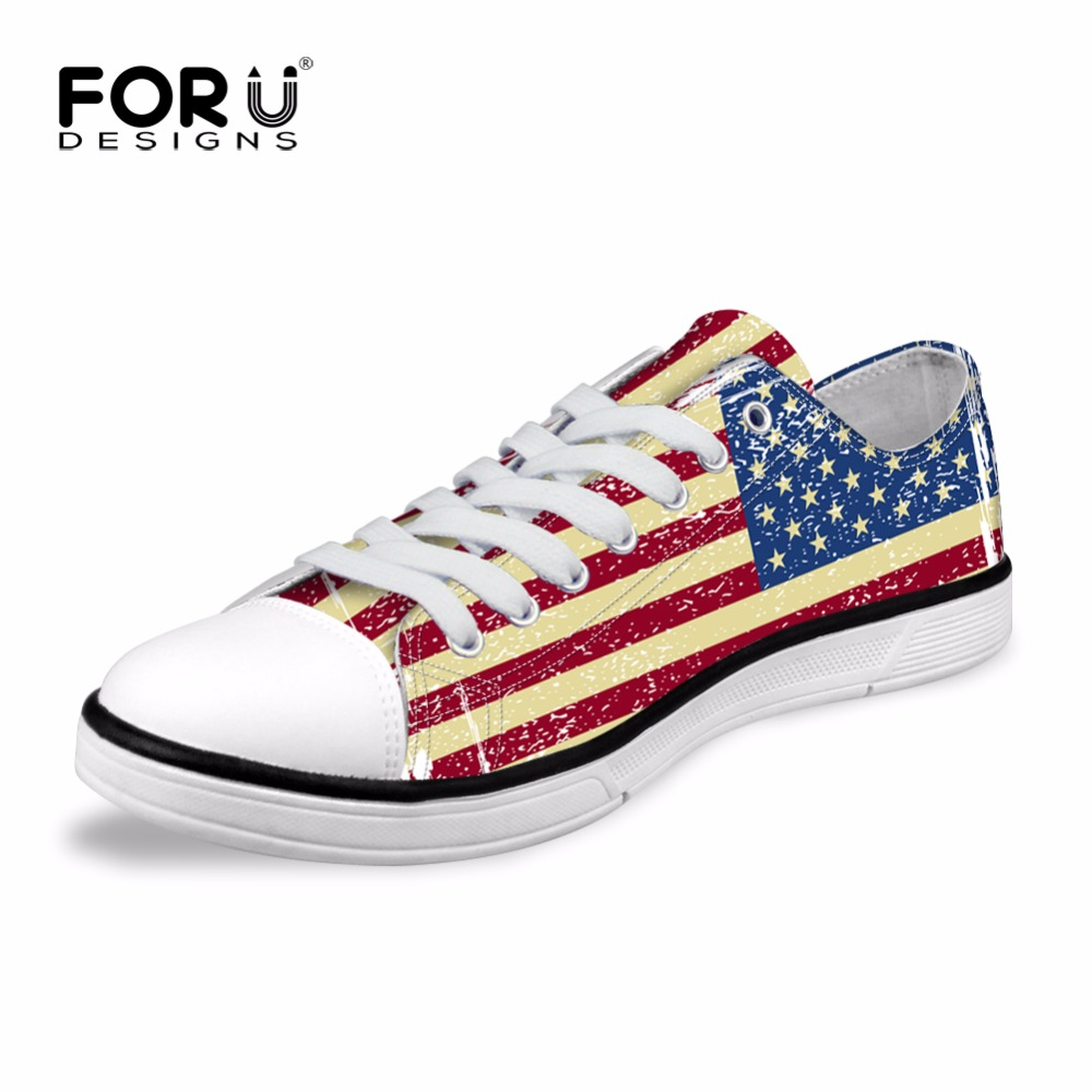 FORUDESIGNS Casual Or Chaussures Drapeau National Impression Hommes Mâle Oie Chaussures Low Top Confortable Anti-sauter Low Top Chaussures