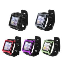 Smart Aluminum Metal Watch Band Wrist Kit Cover Case For Apple iPod Nano 6 6th цена