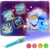 Children Baby Sleeping Projector Flashlight Luminous Toy Baby Sleep Story Lamp Light Up Toy With Button