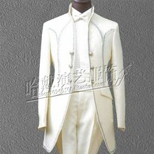 S-6XL!  2017  The new male host clothing European court of men's The groom wedding dress suit   The singer's clothing
