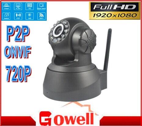 720 p IP CCTV Caméra avec WIFI, deux voies audio, pan/tilt, Plug play, onvif et smartphone surveillance APP iSO Andriod