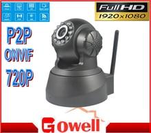 720P IP CCTV Camera with WIFI, two-way audio , pan/tilt ,Plug play,onvif and smartphone surveillance  APP iSO Andriod