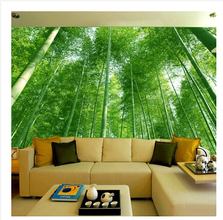 Beautiful Aliexpress.com : Buy Bamboo Forest Landscape 3D Wallpaper Stereoscopic  Large Mural Wallpaper Living Room Bedroom Sofa TV Background Wall Paper  From Reliable ...