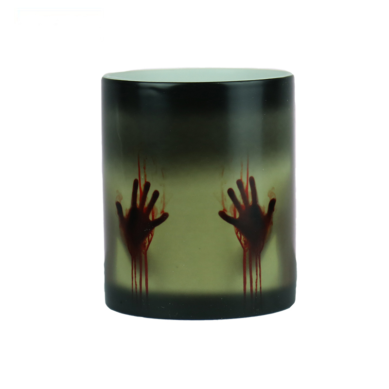 Caneca The Walking Dead Magic Mug One Piece Chameleon Mug Change Color Zombie Creative Porcelain Temperature Sensing Mugs ...