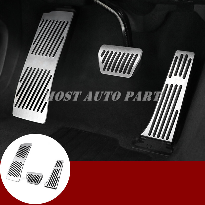 AT Brake Accelerator Pedal Footrest Pad Cover For BMW X3 X4 G01 G02 2018 2019