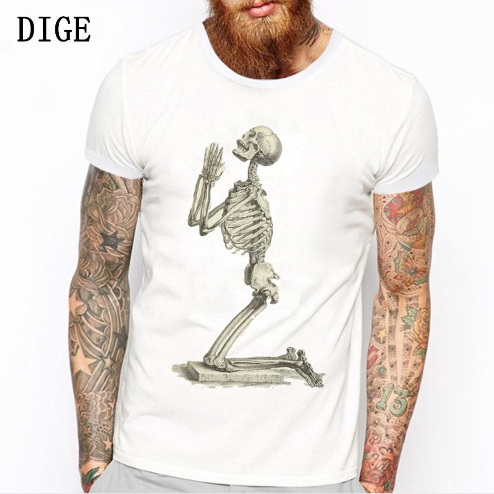 2019 Summer T-shirt New Style Skulls Leisure Cartoon  For Men O-neck Short Sleeve Printing T-shirt M-3XL Size B0200