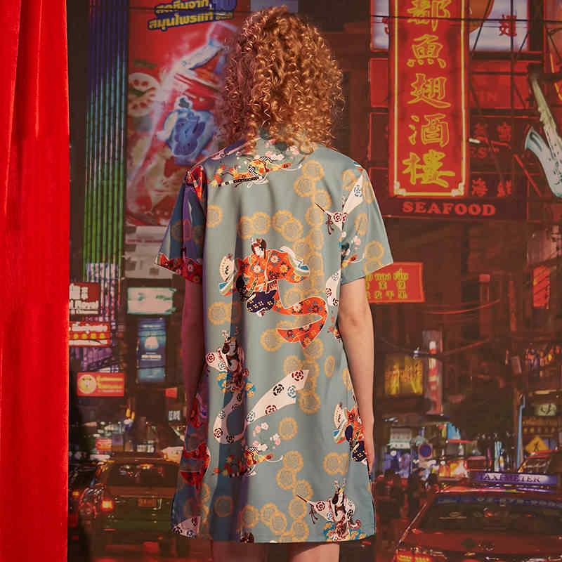 UNIFREE cheongsam платье улучшает китайский стиль Ретро Девушка Лето 2019 новый воротник рукав U192I050EE