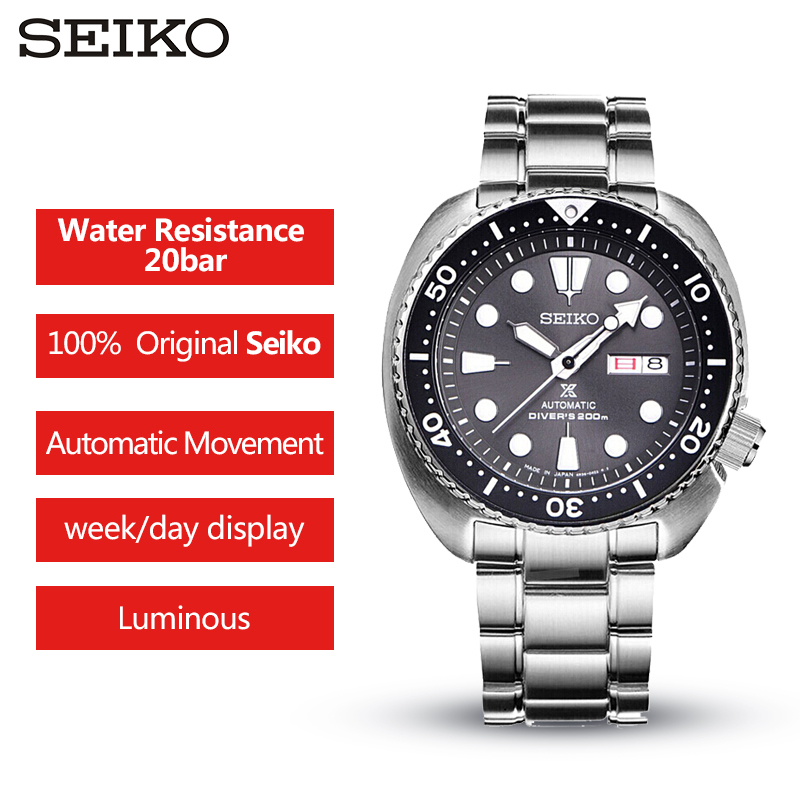 100%Original SEIKO Mens Watch  Automatic Mechanical Wristwatches 20 Bar Waterproof Sprots Watch For Diver Swim Global Warranty 100%Original SEIKO Mens Watch  Automatic Mechanical Wristwatches 20 Bar Waterproof Sprots Watch For Diver Swim Global Warranty