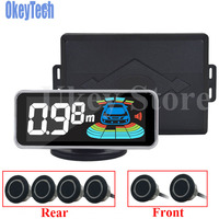 OkeyTech Parktronic Parking Sensor 6 Sensor Reversing Radar Detector LED Digital Car Parking Assistance Alarm System FOR All Car