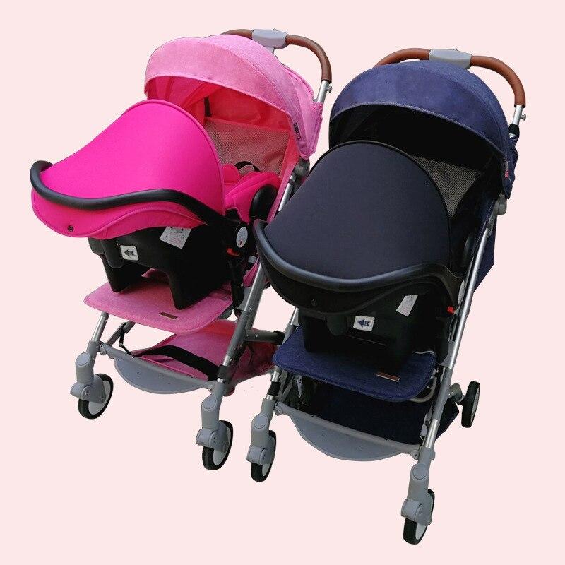 Twins Baby Stroller Send Two Car Seats Newborn Twin Stroller Travel