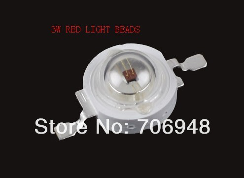 High Power MIX 100pcs/lot 3W RED/GREEN/YELLOW/BLUE/WHITE/WARM WHITE High-power LED Diode